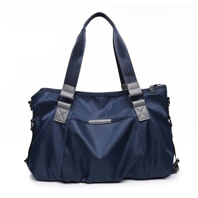 Lady Sacs Oxford Chiffon pour Femme Seule épaule Femelle sur Toile Sac Messenger Sac Portable en Nylon Sac à Main 42* 30* 16cm bleu