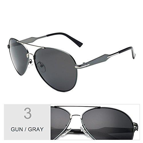 Gray Gun Fresco A Visibilidad Gris Gafas De Piloto Gafas TIANLIANG04 Gun Aviador Gafas Hombres Para Sol Nocturna Los Lentes Guiar Polarizadas Clásicas x7nqR1TIq