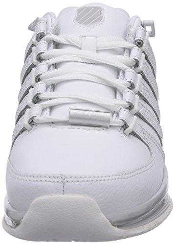 K-Swiss RINZLER SP - zapatilla deportiva de piel mujer blanco - Weiß (WHITE/WHITE 101)