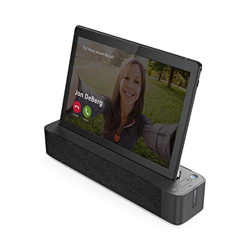 """Lenovo Smart Tab M10 HD 10.1"""" Android Tablet 16GB with Alexa Enabled Charging Dock Included, Android Pie, ZA510007US, Slate Black"""
