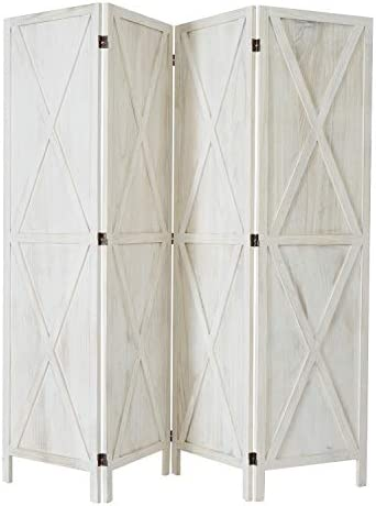 Room Divider Screen, Room Seperating Divider, 4 Panel Wooden Room Divider Home Furniture Indoor for Home, Restaurant, Bedroom, Office Dorm Decor