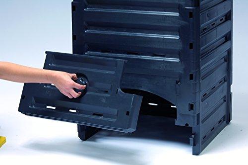 Exaco 628001 Eco-Master Polypropylene Composter, 120-Gallon, Black by Exaco Trading Company (Image #1)