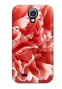 High Grade DeniseMA Flexible Tpu Case For Galaxy S4 - Macro Carnation Pink Flower Portret Nature Flower