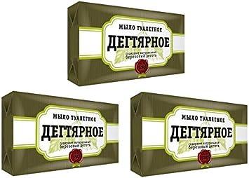 Jabón de alquitrán contra el acné dermatitis de abedul de Rusia.