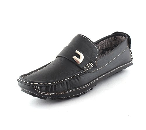 AORFEO Black Driving Leather Loafer Shoes For Men Leather Loafer Shoe (7)