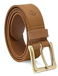Timberland - Cinturón de trigo para hombre (38 mm, piel)
