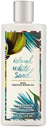 Bath & Body Works Island White Sand Super Smooth Body Lotion, 8 Ounces