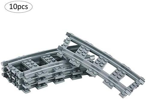 Parts & Accessories 10Pcs City Trains Train Track Railway Arrow Straight Curved Rails Blocks Sets Bricks Model Kids Toys Compatible - (Color: B)