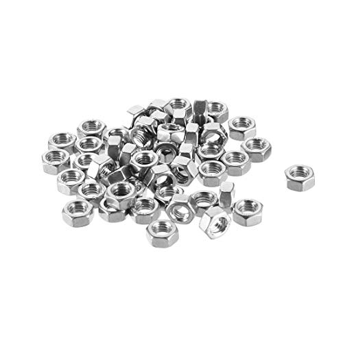 - uxcell Hex Nuts, M5x0.8mm Metric Coarse Thread Hexagon Nut, Stainless Steel 304, Pack of 50