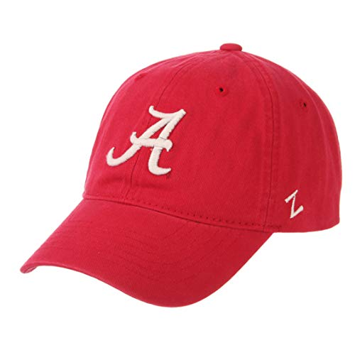 ZHATS University of Alabama Crimson Tide A Red Unstructured Relaxed Fit Scholarship Adult Mens/Boys/Womens Baseball Hat/Cap Size Adjustable