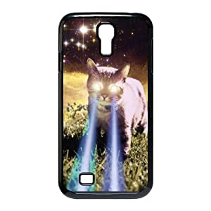 Personalized Aesthetic Samsung Galaxy S4 I9500 Hard GMNBVZX Case Cover with Cute Space Cats with Sunglasses Printed GMNBVZX Case Perfect as Christmas gift(4)