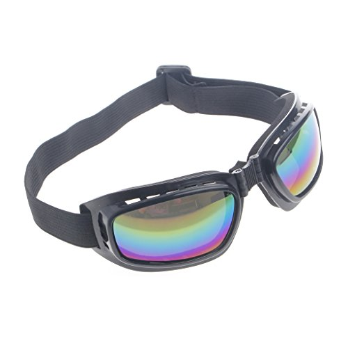 Mens Snow Motorcycle (Doober Foldable Safety Goggles Ski Snowboard Motorcycle Eyewear Glasses Eye Protection (Colorful, 4.5))