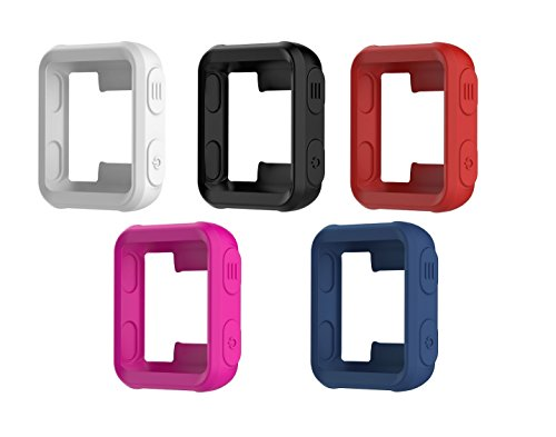 TenCloud Band Covers for Forerunner 35 Watch, Garmin Forerunner 35 Approach S20 Watch Accessories Silicone Protector Case Replacement (Black, White, Red, Dark Blue, Magenta)