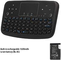 Docooler A36 Mini Teclado Inalámbrico 2.4 GHz 4 Color Retroiluminado Fly Mouse Touchpad Teclado para Android TV Box Smart TV PC Recargable: Amazon.es: Electrónica