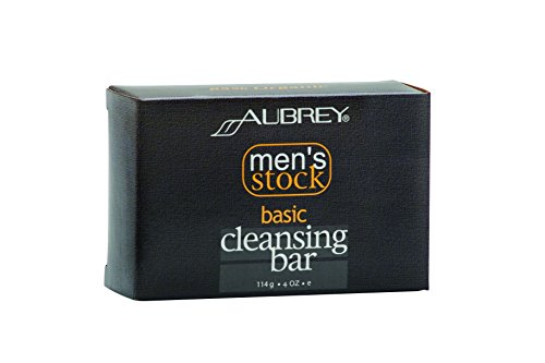 Aubrey Natural Soap (Aubrey Organics Men's Stock Basic Cleansing Bar * ALL NATURAL SOAP ALTERNATIVE WITH ORGANIC SHEA BUTTER -)