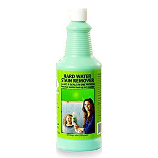 Ultimate Bio-Clean:Safe Hard Water Spot Stain Remover (48oz Extra Strength) Spot Cleaner Removes Tough Hard Water Stains From: Shower doors and Glass, Windshields, Metals and Stones.