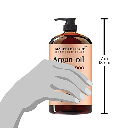 Argan Oil Shampoo From Majestic Pure Offers Vitamin Enriched Gentle Hair Restoration Formula For Daily Use Sulfate Free Moroccan Oil Potent Natural Ingredients For Men And Women 16 Fl Oz
