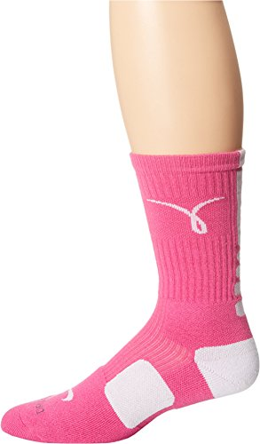 Nike Kay Yow Elite Crew Basketball Socks Pink/White Size Socks Large 8-12