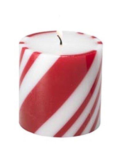 (Biedermann & Sons Peppermint Pillar Candles (Box of 6), 3 by 3