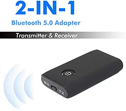 Bluetooth V5 Transmitter /& Receiver Wireless A2DP Audio 3.5mm Jack Aux Adapter