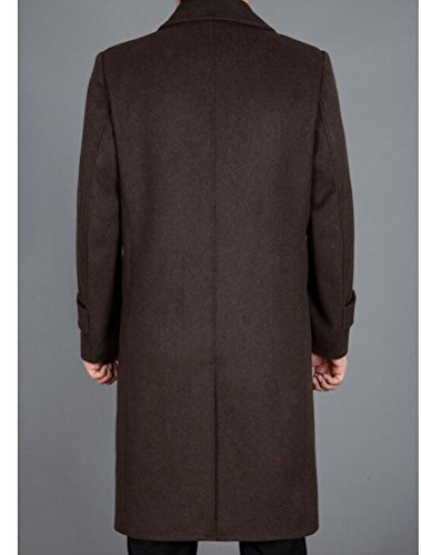 Single Casual Breasted Outerwear Style1 Wool S Men's Brown Long Trench Coat Jacket MatchLife qtBXIwB
