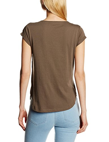 Stefanel T-SHIRT JERSEY N. 59 MACRAME - Camiseta para mujer, color marrón, talla XS