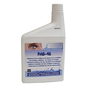 Aceite del compresor PAG 46 1 litro de capacidad para coche aire acondicionado R134a R404A aceite