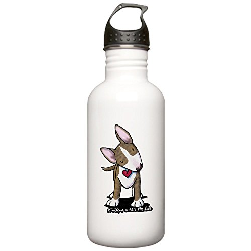 (CafePress - Brindle Bull Terrier Stainless Water Bottle 1.0L - Stainless Steel Water Bottle, 1.0L Sports Bottle)