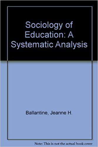 Book Sociology of Education: A Systematic Analysis by Jeanne H. Ballantine (1983-04-03)