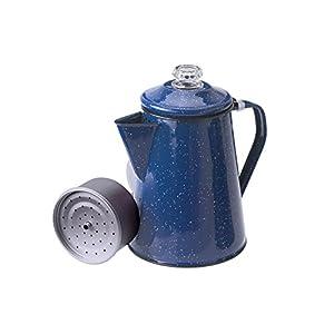 GSI Outdoors 15154 Enamelware Percolator Coffee Pot, 8-Cup, Blue