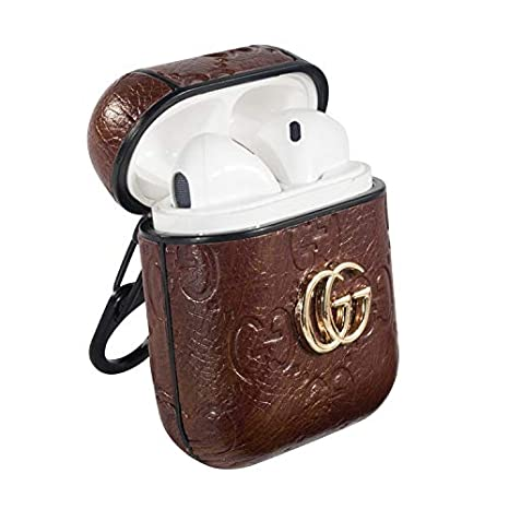 online store dada0 21804 AirPods PU Leather Monogram Designer Case, Protective Shockproof Case Cover  with Carabiner Keychain Compatible with Apple AirPods Charging Case for ...