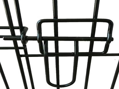 Ellie-Bo Jaula plegable 2 puerta con orificio bandeja de metal grande (91,4 cm) para perro.: Amazon.es: Productos para mascotas
