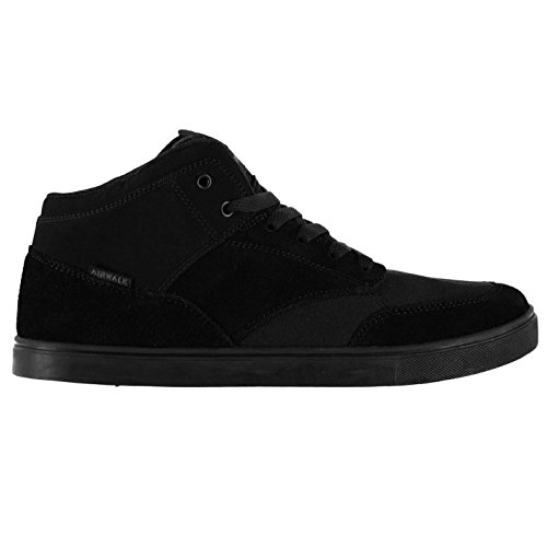 Airwalk Mens Breaker Mid Shoes Lace Up Flat Sole Fashion Casual Black UK 10 (44)