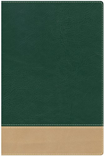 Teacher's Bible Green/Tan LeatherTouch - Bible Green