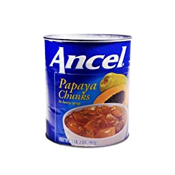 Ancel Papaya Chunks 34 OZ