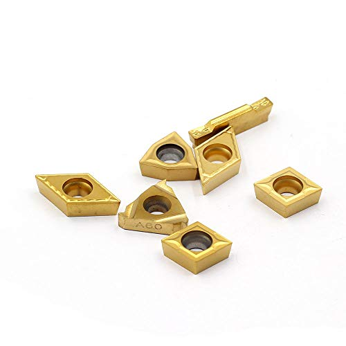 OSCARBIDE Carbide Turning Inserts MGMN300,16ER A60,WCMT06T304,CCMT09T304,DCMT11T304 CNC Lathe Insert for 5//8 or 3//4 Indexable Lathe Turning Tool Holder Insert Replacement 7 Pieces