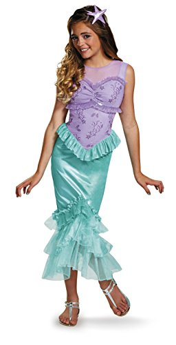 Ariel Tween Disney Princess The Little Mermaid Costume, Large/10-12 - Com Costumes Flounder