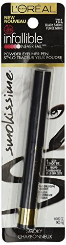 L'Oréal Paris Infallible Smokissime Powder Eyeliner Pen, Black Smoke, 0.032 oz. (Packaging May Vary)