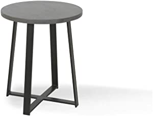 Alveare Home Paige Round Side Table, Grey WASH