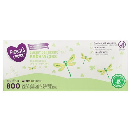 Amazon.com: PACK OF 3 - Parents Choice Cucumber Scent Baby Wipes, 8 packs of 100 (800 ct): Health & Personal Care