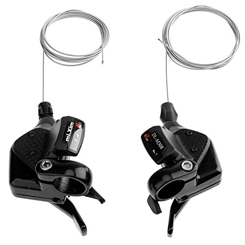 Alloy Shifter Levers - Alloet 3X8 Mountain Bike Bicycle Speed Shifter Trigger Brake Lever Set