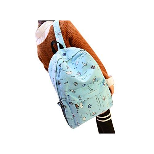 (Doodle Canvas Backpack School Bags for Teen Girls Ruckack Backpack)