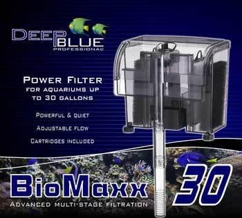 30 Gallon Tank System (Deep Blue Professional ADB88702 Biomaxx Power Filter for Aquarium, 30-Gallon)