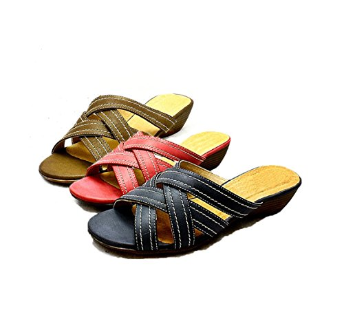 Low Wedge Open Toe Comfort Sandals - 3 Colours Rose Pink 16anbH
