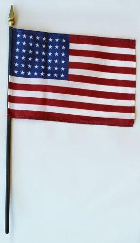"USA - 4"" x 6"" 48-star Stick Flag"