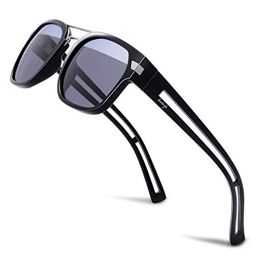 Donahugh Designer Sunglasses For Men Women Fashion Polarized Retro Sun ()