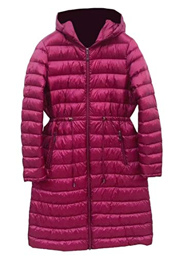 Weight Energy Red Warm Wine Drawstring Women's Mid Down Long Waist Light Ultra Coat Hooded rzOrqg