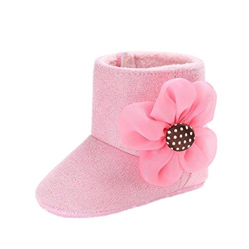 Rosado Crib Soft Nieve Botas Meses Niños De Pequeños Bebés Para 3 Bebé Suave 18 Zapatos Auxma Por Fq8a4zx