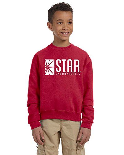Star Lab Unisex Youth Pullover Crew Neck Sweat Shirt XL Red ()