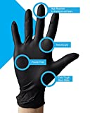 AMD Ritmed Extra Tough Thick Black Nitrile Gloves